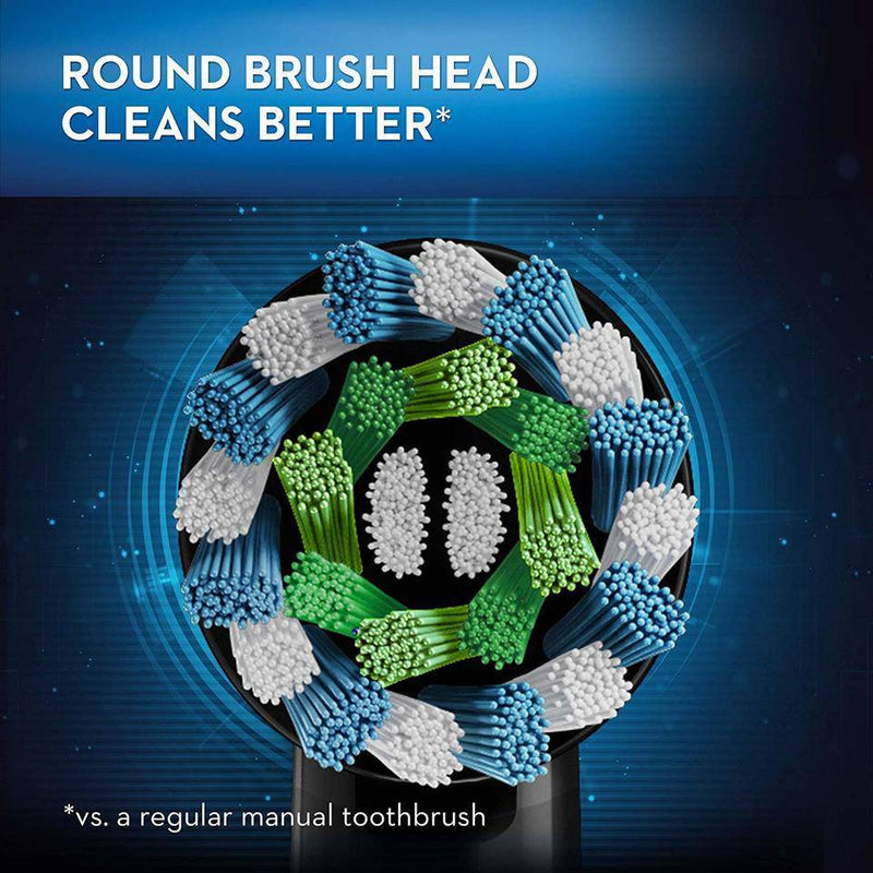 Oral-B Genius 8000 Rechargeable Electric Toothbrush - Round Brush Head - Black - Healthxpress.ie
