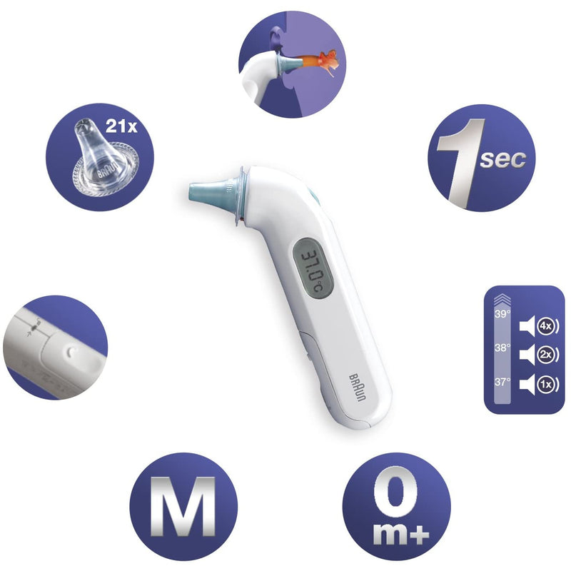 Braun IRT3030 ThermoScan 3 Infrared Ear Thermometer - Healthxpress.ie