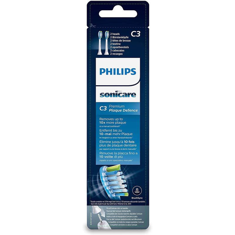 Philips HX9042/17 Sonicare Sonic Brush Standard Toothbrush Heads - Pack of 2 - Healthxpress.ie