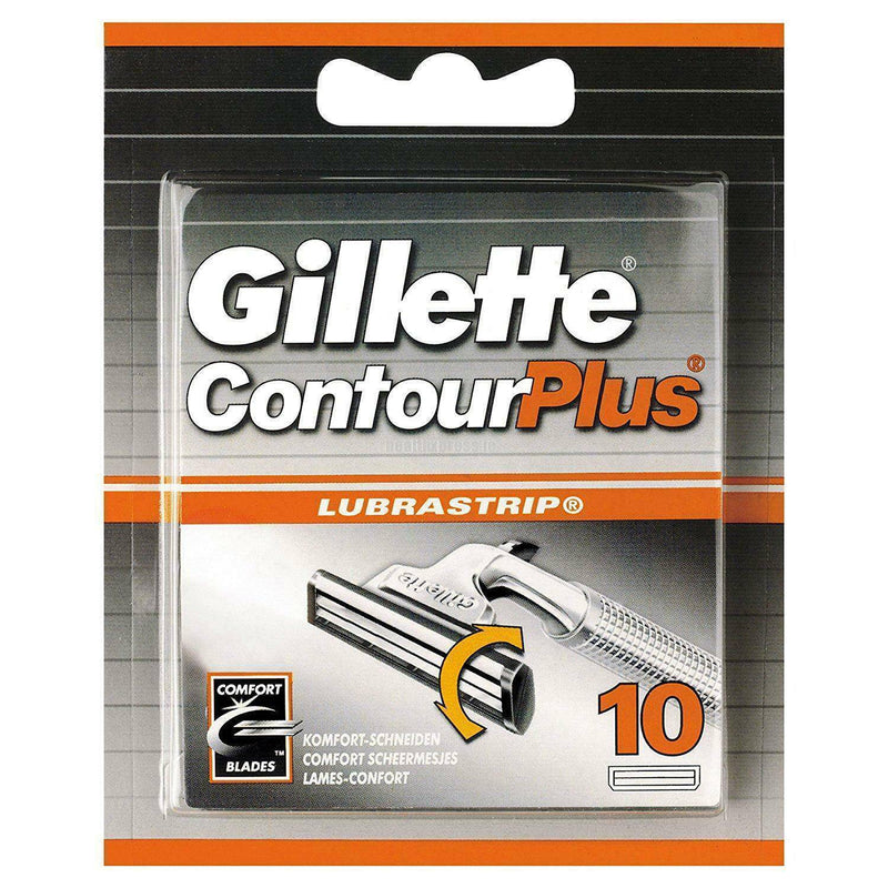 Gillette Contour Plus Razor Blades for Men with Comfort System, Pack of 10 Refill Blades - Healthxpress.ie