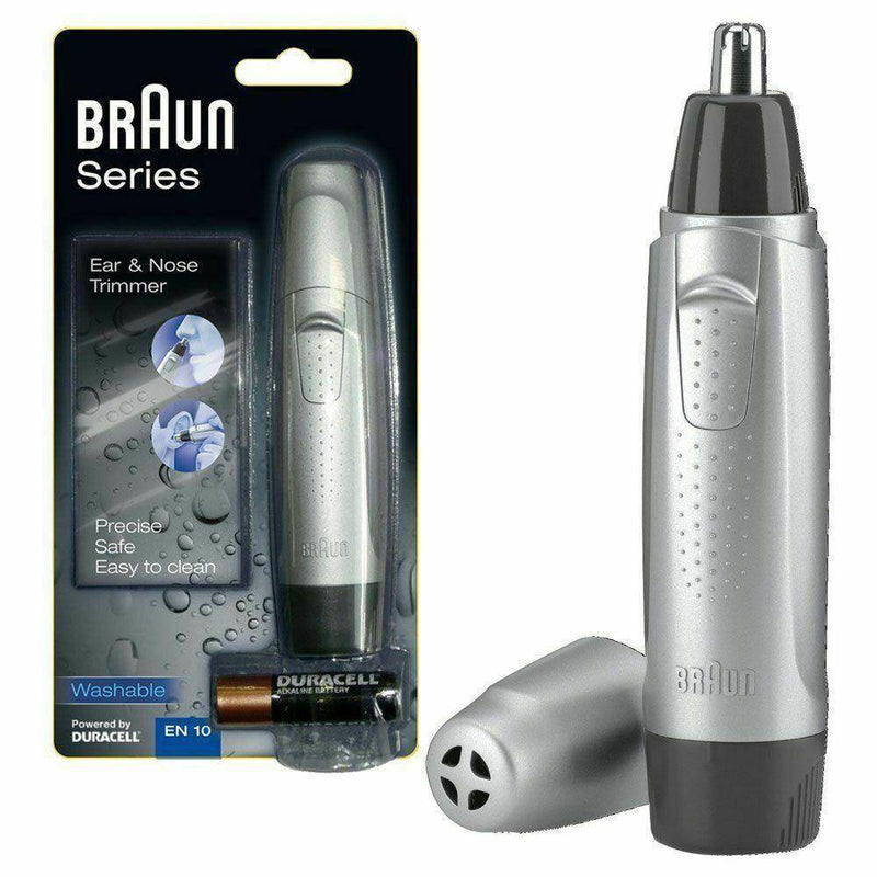 Braun Ear and Nose Trimmer EN10 - Safe & Accurate Hair Removal - Fully Washable - Healthxpress.ie