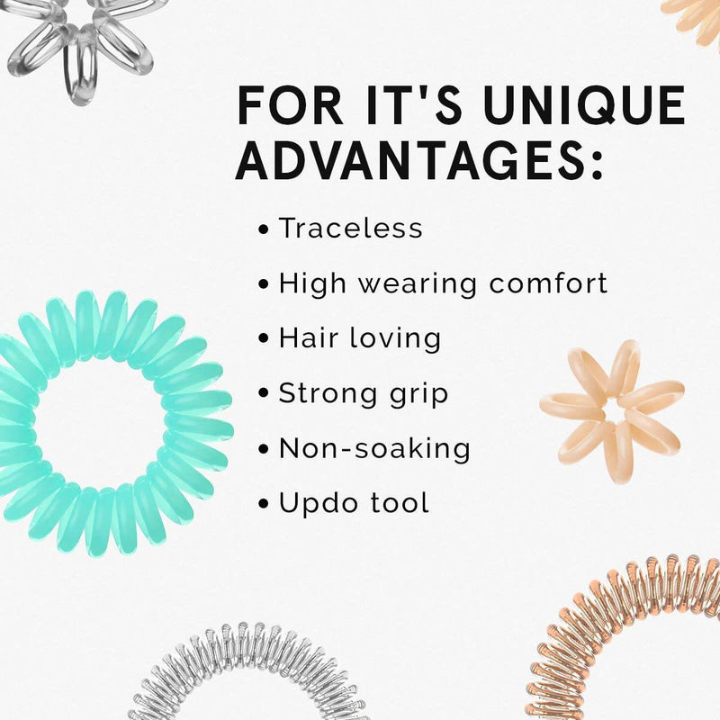 Invisibobble ORIGINAL Hair Ties, True Black, 3 Pack - Traceless, Strong Hold, Waterproof - Suitable for All Hair Types - Healthxpress.ie
