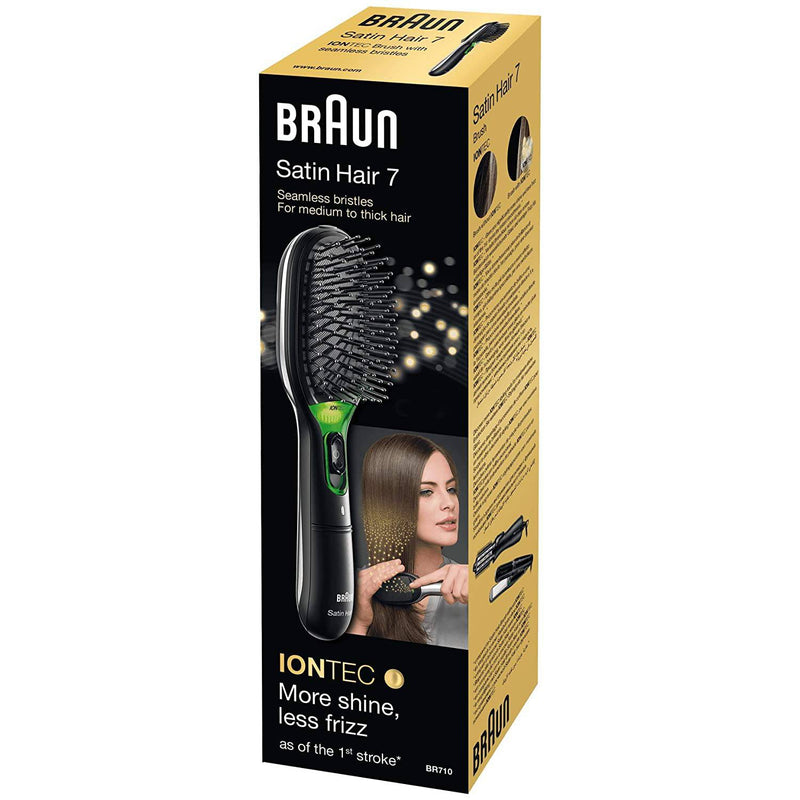 Braun Women's Satin Hair 7 IONTEC Brush - Gentle and Natural Bristles - Black - Healthxpress.ie