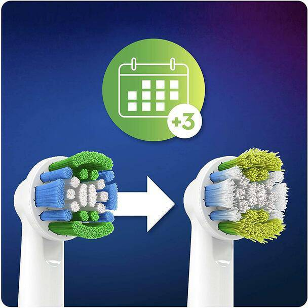 Oral-B Precision Clean Replacement Brush Heads - Round Brush Head - with CleanMaximiser Technology Pack of 4 - Healthxpress.ie