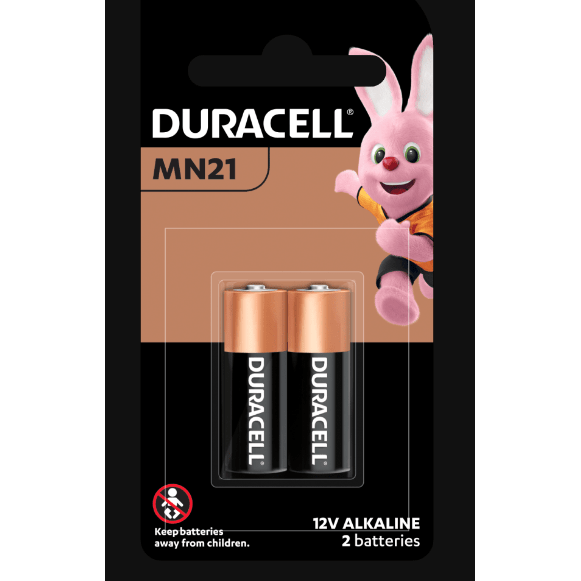 Duracell MN21 Alkaline Specialty Battery - Long Lasting Power, Pack of 2 - Healthxpress.ie