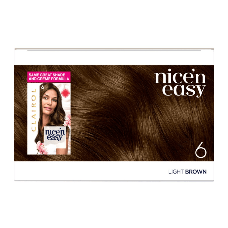 Clairol Nice N Easy Crème Natural Looking Permanent Hair Dye - 6 Light Brown - Healthxpress.ie