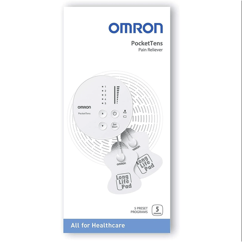 Omron Pocket Tens Digital Pain Relief Machine - Body Massager, Pre-Set Programs - Healthxpress.ie