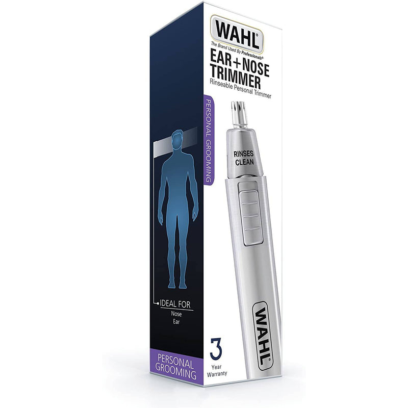 Wahl Nose and Ear Trimmer - Precision Blades, Removable Head - Pocket Sized - Healthxpress.ie