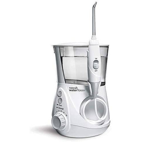 Waterpik WF-05 Whitening Professional Water Flosser - White Edition (UK 2-Pin Bathroom Plug) - Healthxpress.ie