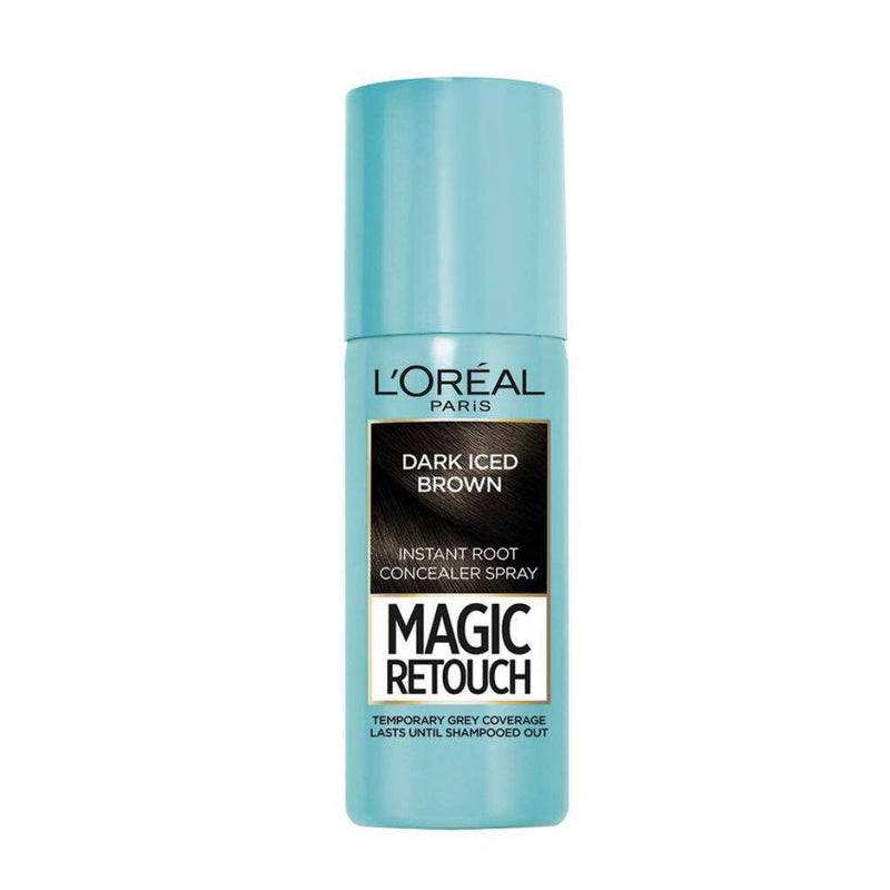L'oreal Magic Retouch Instant Grey Root Concealer Spray - Dark Iced Brown, 75ml - Healthxpress.ie