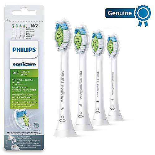 Philips HX6064/10 Sonicare W2 Optimal Brush Head - BrushSync - White, Pack of 4 - Healthxpress.ie