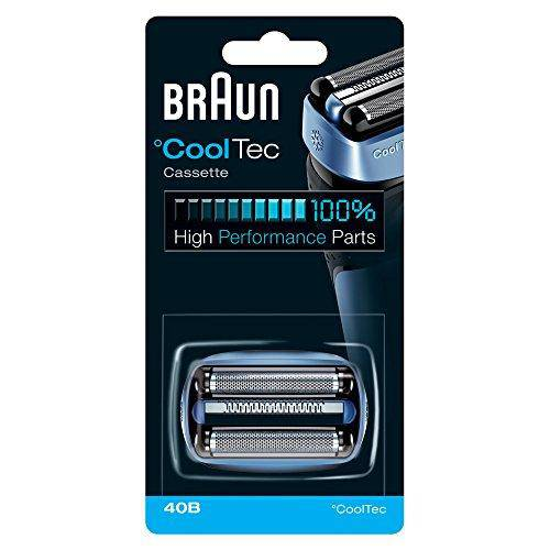 Braun 40B Men's CoolTec Shaver Cassette Replacement Part - Blue - Healthxpress.ie