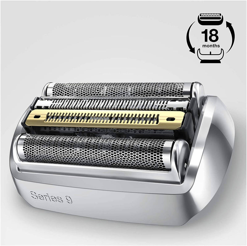 Braun 92m Replacement Foil and Cutter Cassette - Silver/Matte -  for Series 9 Shavers - Healthxpress.ie