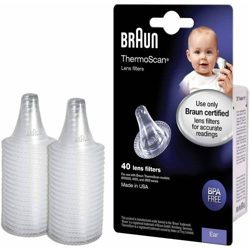 Braun Ear Thermometer ThermoScan Lens Filter Refills - Pack of 3 x 40 - Healthxpress.ie