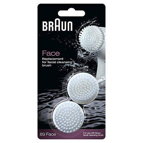 Braun SE89 Silk-Epil Facial Brush Refill - Micro Bristles Massage, Pack of 2 - Healthxpress.ie