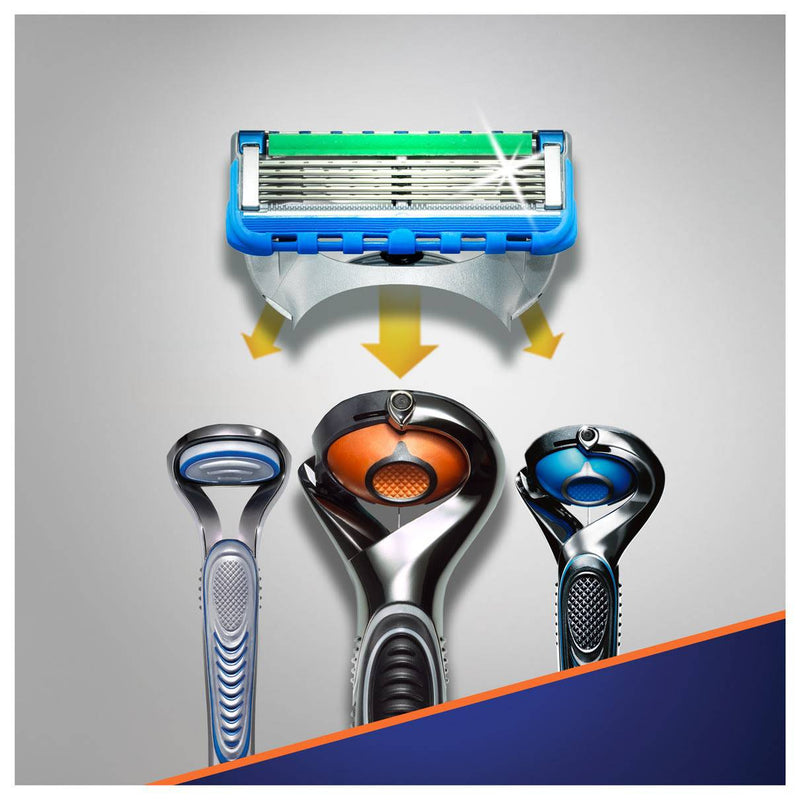 Gillette Fusion5 Proglide Power Razor Blades with FlexBall Technology - 8 Pack - Healthxpress.ie