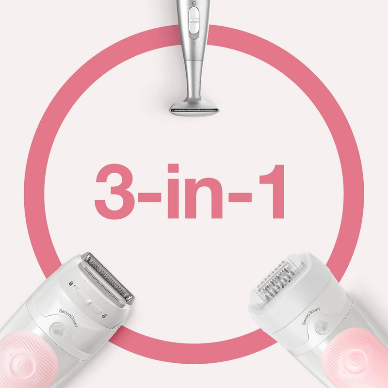 Braun Women's Silk-Epil 5-820 Wet and Dry Epilator with 4 Extras & Bikini Styler - Healthxpress.ie