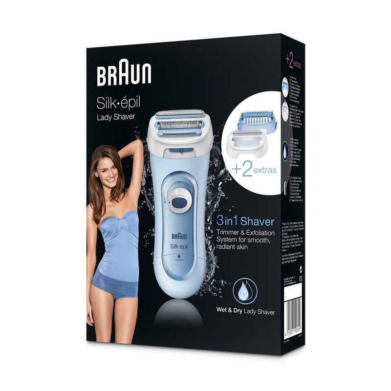 Braun Silk-Epil 3-in-1 Cordless Wet and Dry Electric Lady Shaver LS 5160 - Blue - Healthxpress.ie