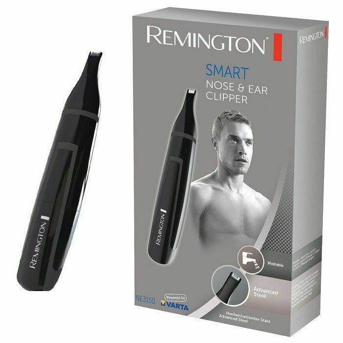 Remington NE3150 Nose, Ear, Eyebrow Hair Clipper - Steel Blades, Washable Head - Healthxpress.ie