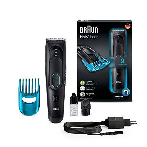 Braun Men's HC5010 Hair Clipper with 1 Comb x 8 Precise Length Settings - Black - Healthxpress.ie