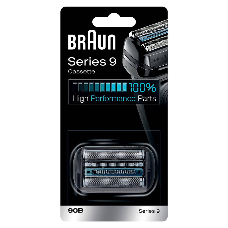 Braun 90B Series 9 Electric Shaver Replacement Foil & Cassette Cartridge - Black - Healthxpress.ie