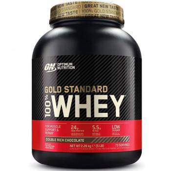 Optimum Nutrition 2.27KG Gold Standard 100% Whey Protein - Vanilla Ice Cream - 5.15LB ,73 Servings - Healthxpress.ie