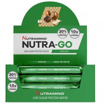Nutramino Nutra-Go Protein Wafer - 2 Portions, Low Sugar - Hazelnut Flavour x 12 Bars - Healthxpress.ie