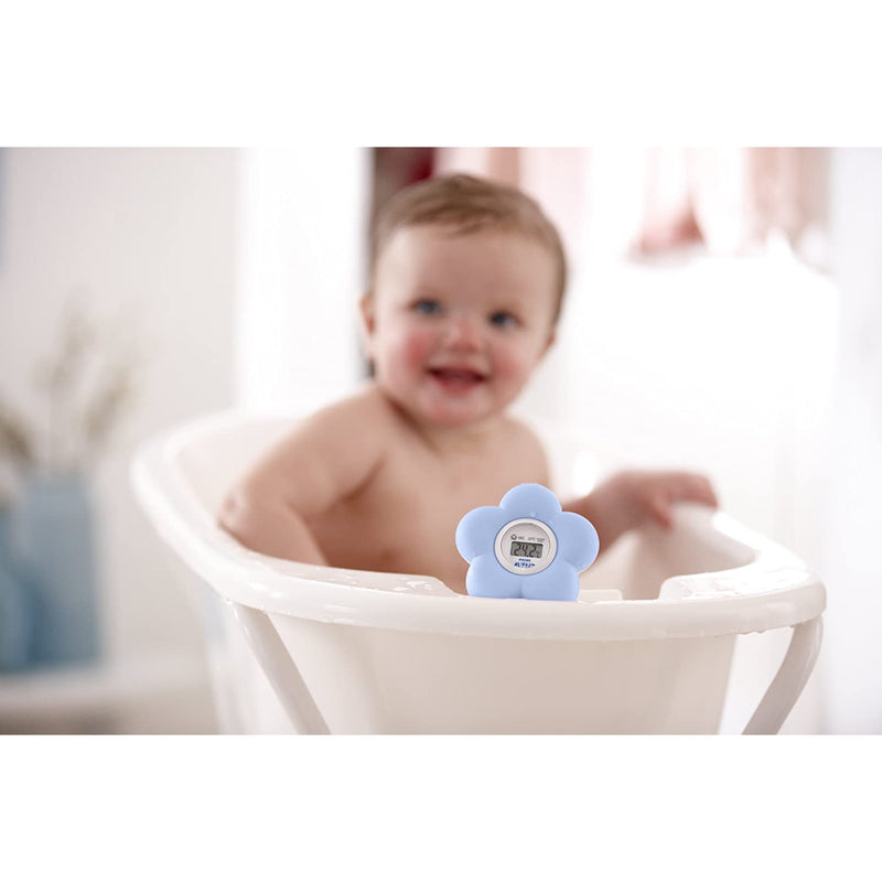 Philips Avent SCH550/20 Baby Digital Bath and Room Thermometer - Blue Flower - Healthxpress.ie