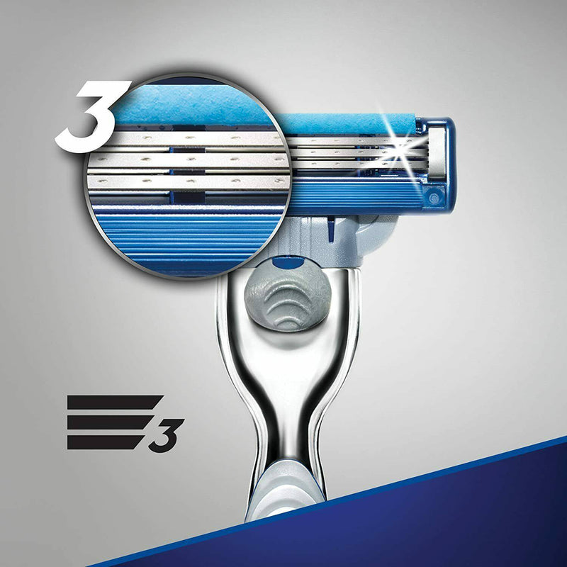 Gillette Mach3 Turbo Men's Razor Starter Pack with 4 Refills - Turbo Blades - Healthxpress.ie