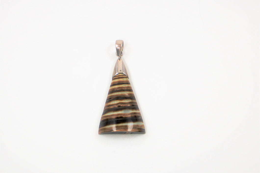 Striped Shell Pendant