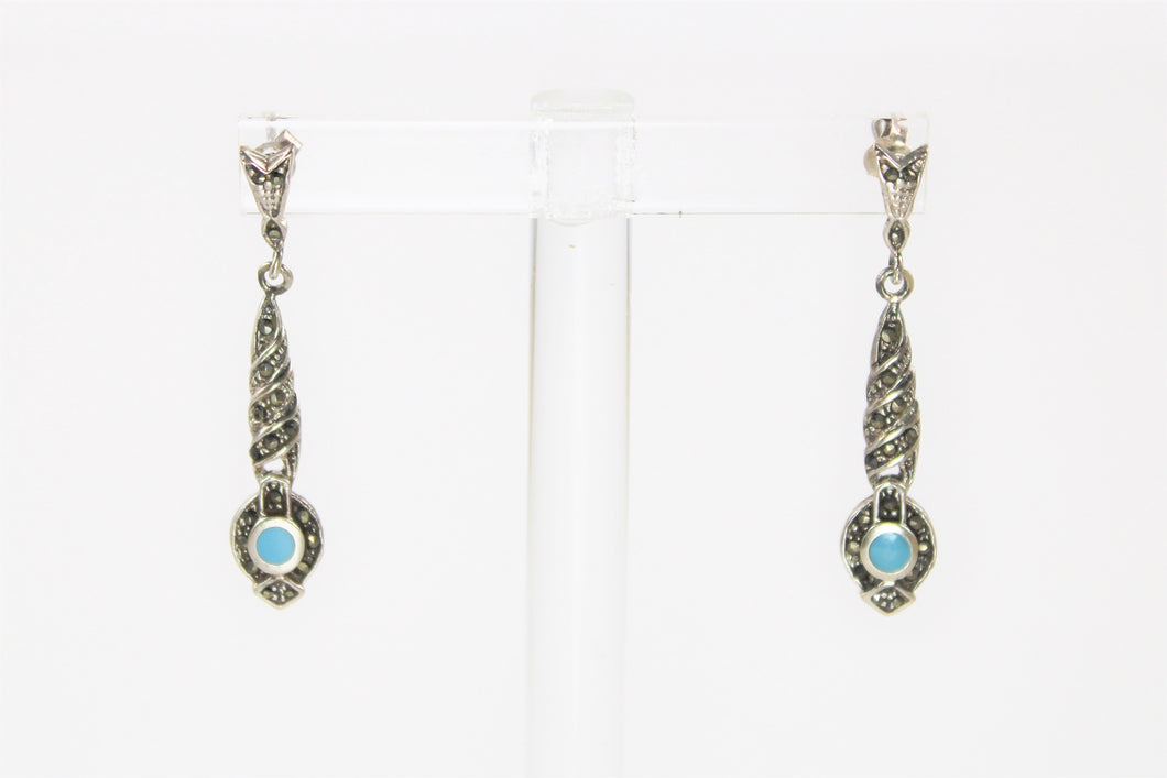 Marcasite & Turquoise Earrings