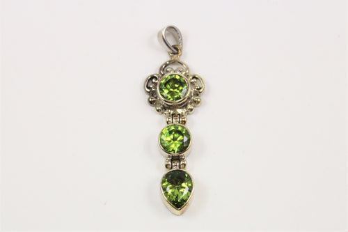 Peridot Three Stone Pendant