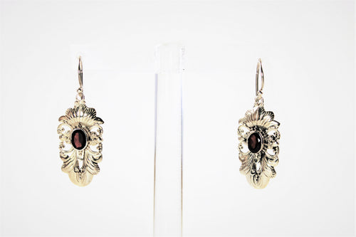 Garnet Ornate Earrings