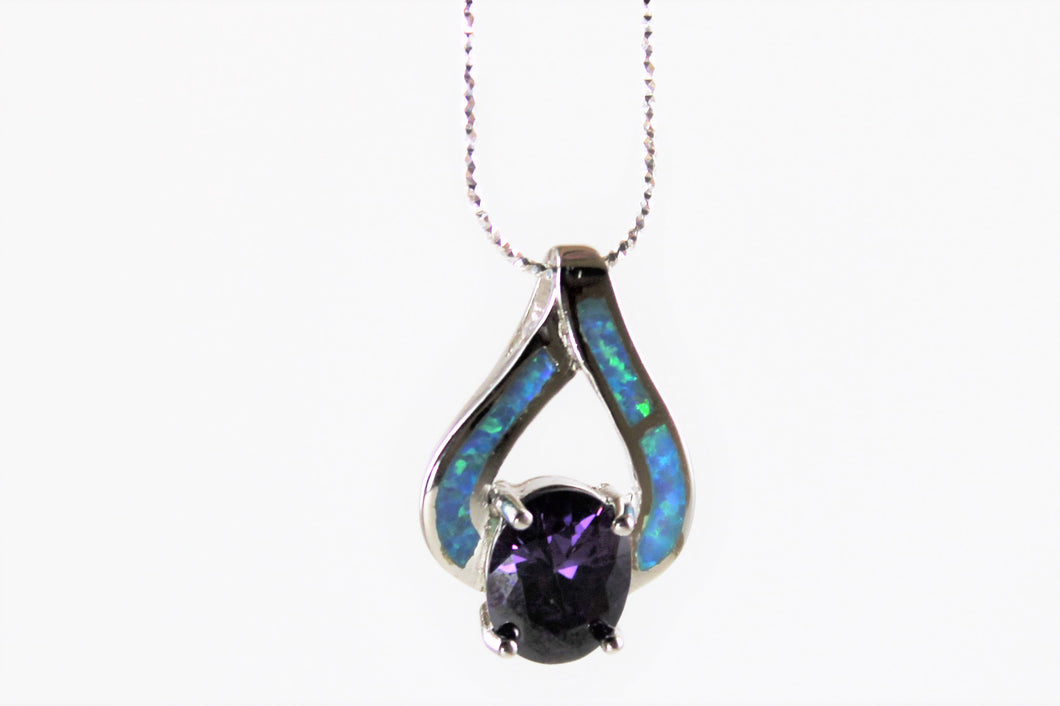 Amethyst & Opal Necklace