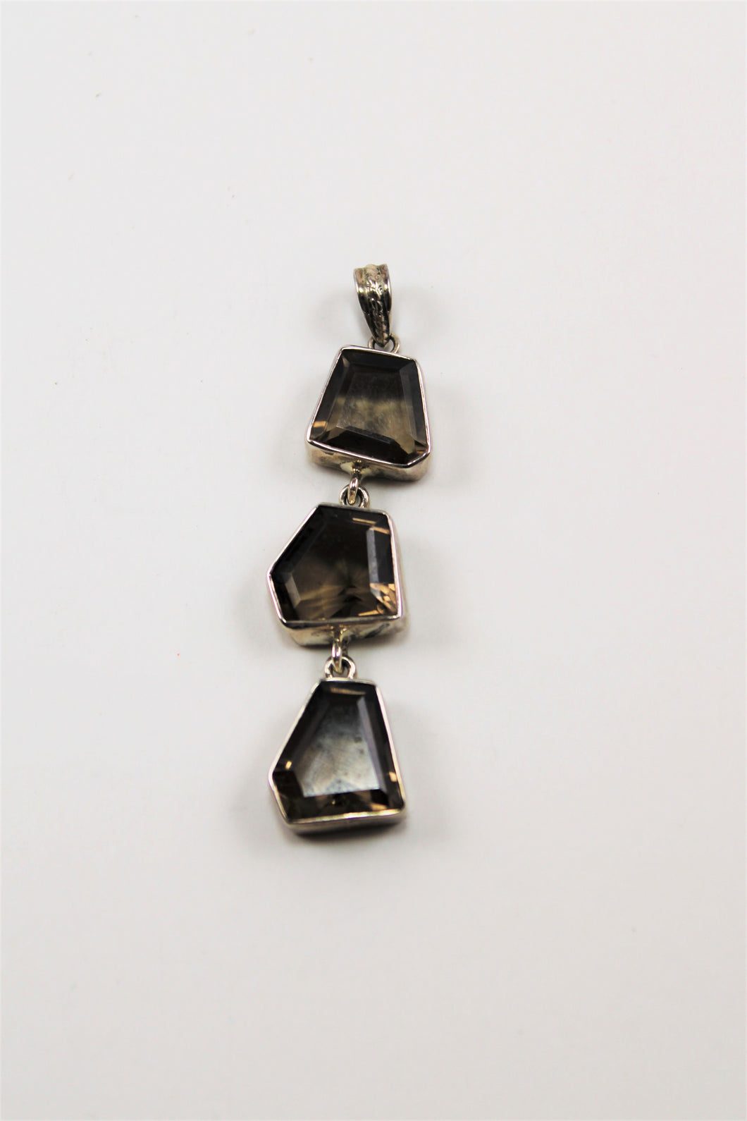 Smoky Topaz Three Stone Pendant