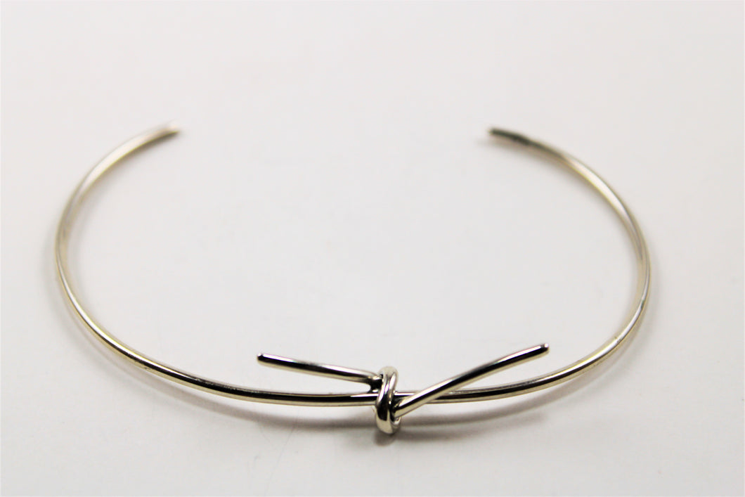 Sterling Silver Cuff with Love Knot