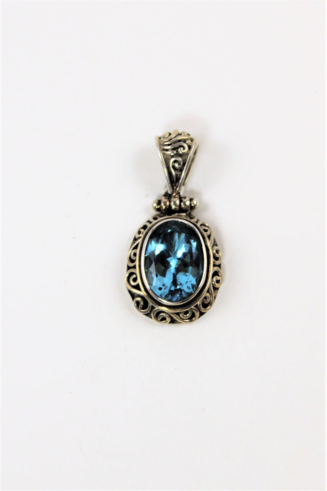 London Blue Topaz Oval Pendant