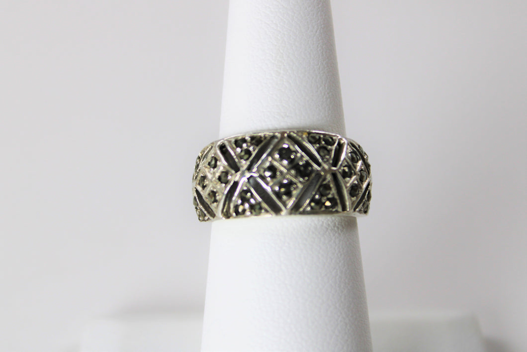 Marcasite Detailed Band - On Sale! - Only One Available - Size 7!