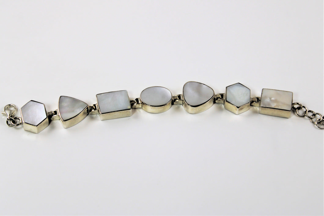 Mother of Pearl Tri Shaped Bracelet