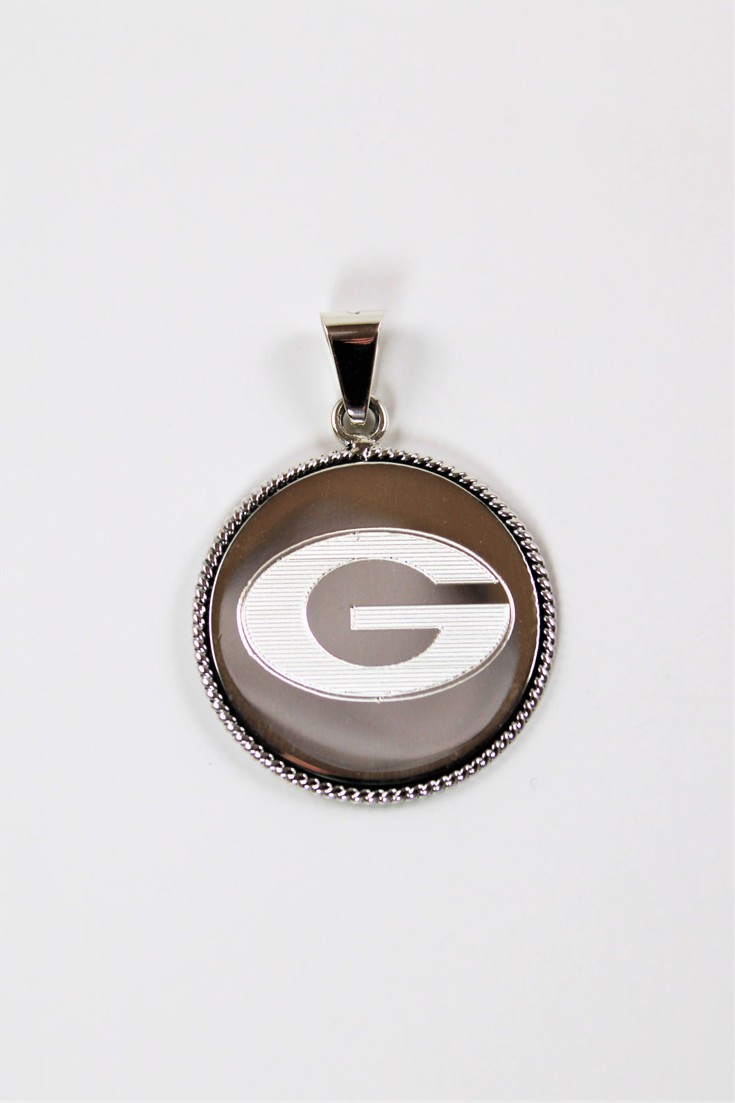 Large G Sterling Silver Pendant