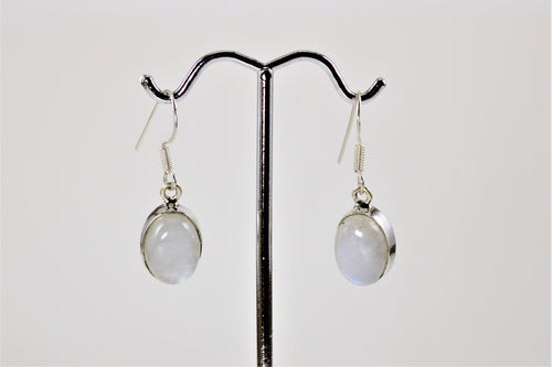 Oval Moonstone Earrings