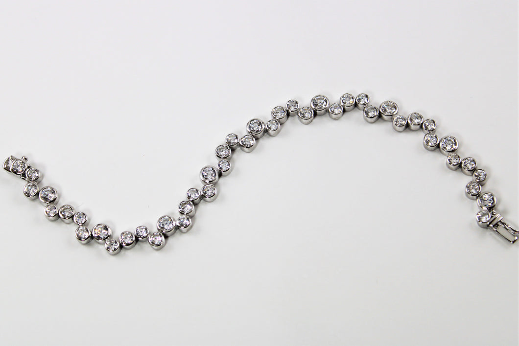 White Topaz Bubble Bracelet