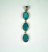 Load image into Gallery viewer, Blue Chalcedony Pendant