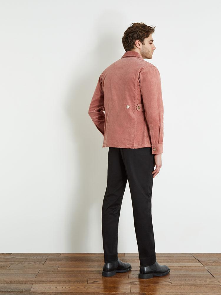 Corduroy Military Jacket - Pale Pink