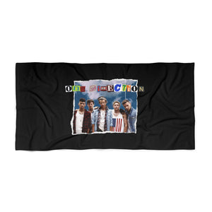 1D Collage Beach Towel