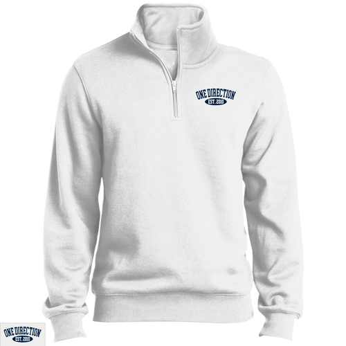 Embroidered 1D Quarter Zip Sweatshirt Navy Thread