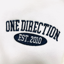 Load image into Gallery viewer, Embroidered 1D Quarter Zip Sweatshirt Navy Thread