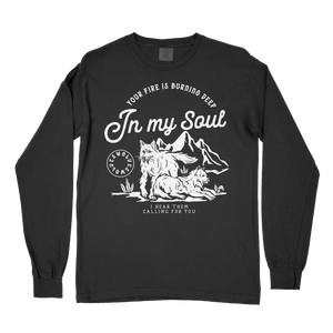 Wolves Comfort Colors Long Sleeve T-Shirt