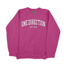 Load image into Gallery viewer, 1D Block Letters Comfort Colors Sweatshirt