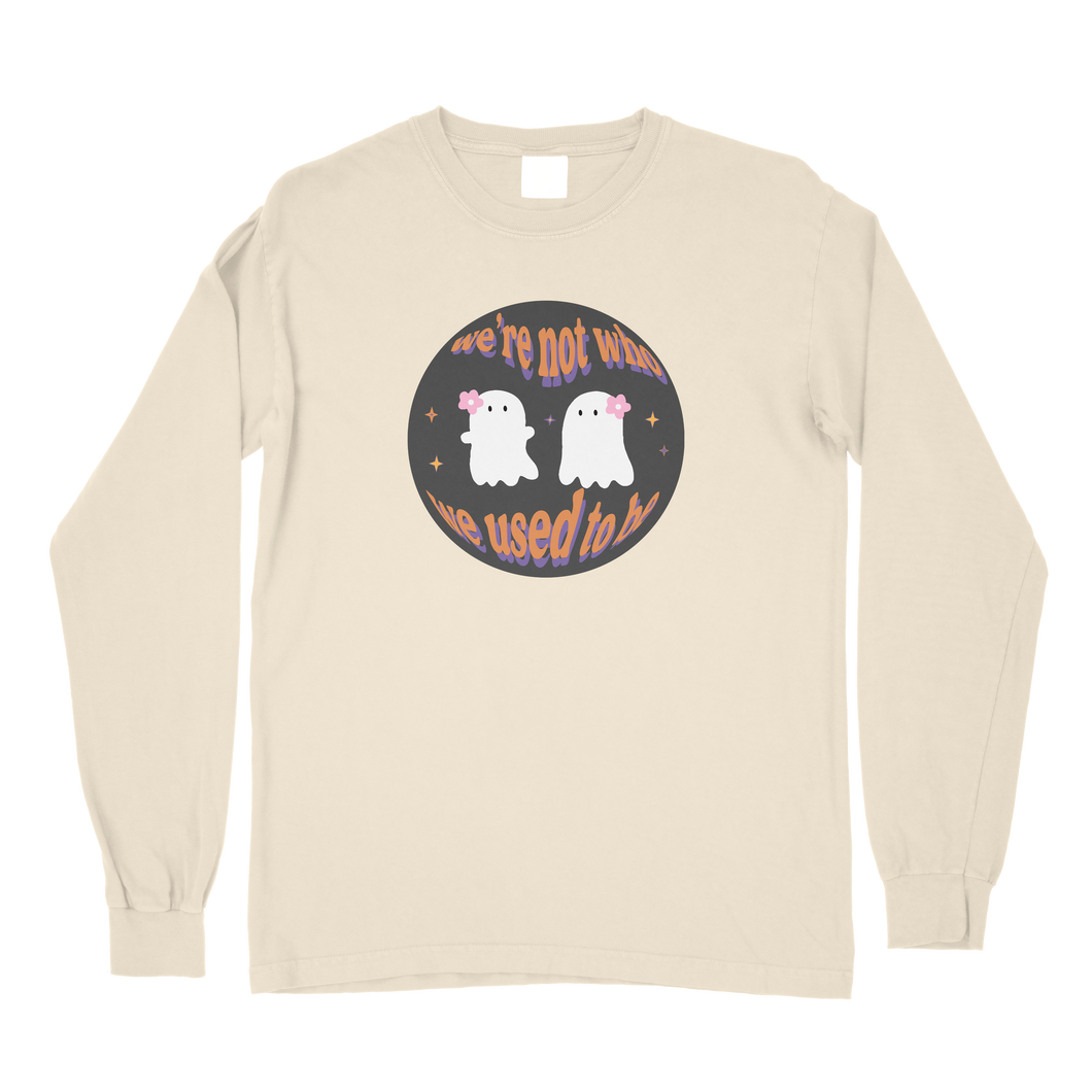 Two Ghosts Comfort Colors Long Sleeve T-Shirt